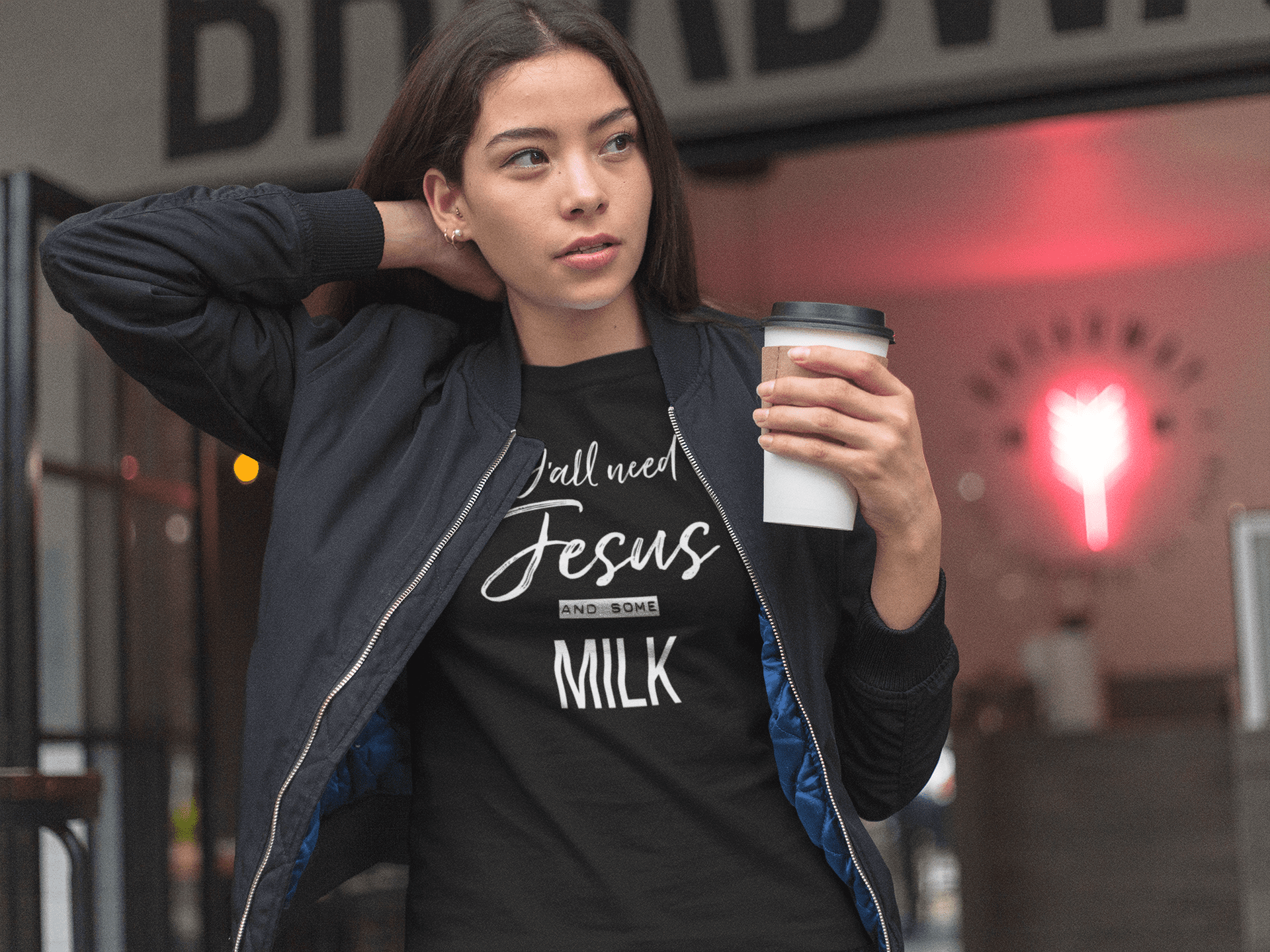 jesus milk t-shirt mock